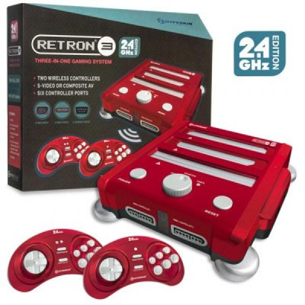 SNES NES SNES SG - RetroN 3 - HW - 3 in 1 system - NEW 2015 - 2.4G edition - RED - NEW