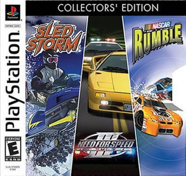 PS1 EA Racing Pack - Sled Storm - Need for Speed 3 Nascar Rumble - Combo Pack