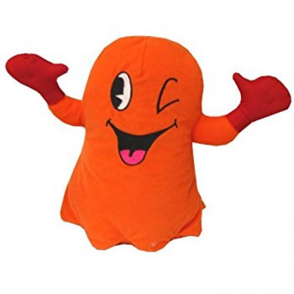 Plush - Pac Man - Ghost - Orange - 8 in
