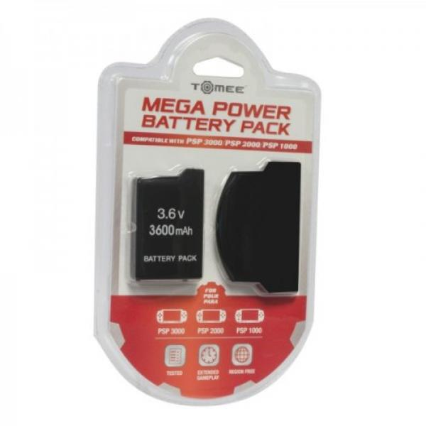 PSP Replacement Battery - Mega Power (3rd) NEW - Hyperkin - Tomee - for PSP 1-2-3 1000 2000 3000 (*May not work with some 1000 models)