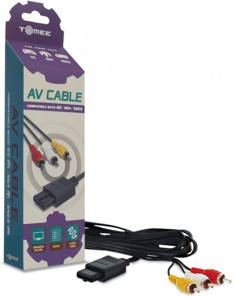 SNES N64 GC - AV Cable (3rd) - NEW - Tomee