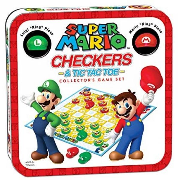 Super Mario Checkers and Tic Tac Toe - 2 in 1 Board Game