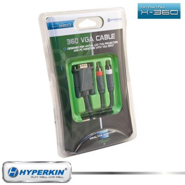 X360 AV VGA Cable - (3rd) NEW - Hyperkin