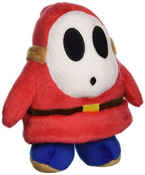 Plush - Nintendo - Super Mario - Shy Guy - red - 5 in