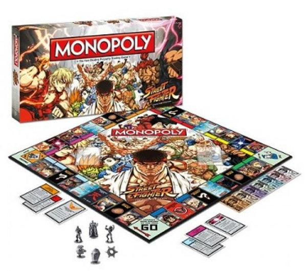 BG Monopoly Board Game - Street Fighter - Collectors Edition - NEW