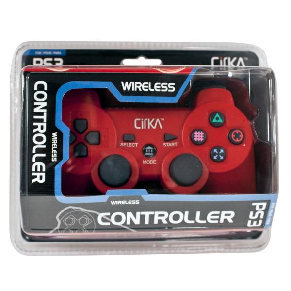 PS3 Controller (3rd) Wireless - NEW - Cirka - red