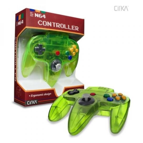 N64 Controller (3rd) NEW - Cirka - Original Style - Hyperkin - Jungle - YELLOW - GREEN
