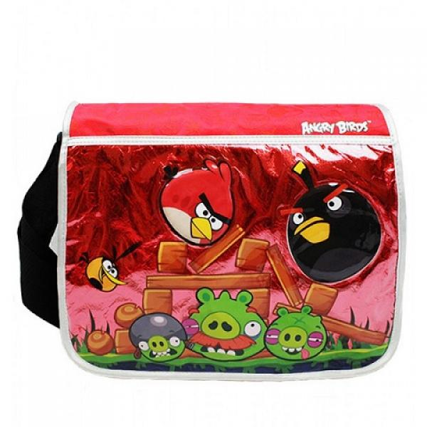 Gamer Bags - Messenger Bag - Angry Birds - large black & red