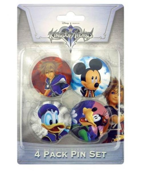 Gamer Pin / Button - Kingdom Hearts - Pins - 4 pack