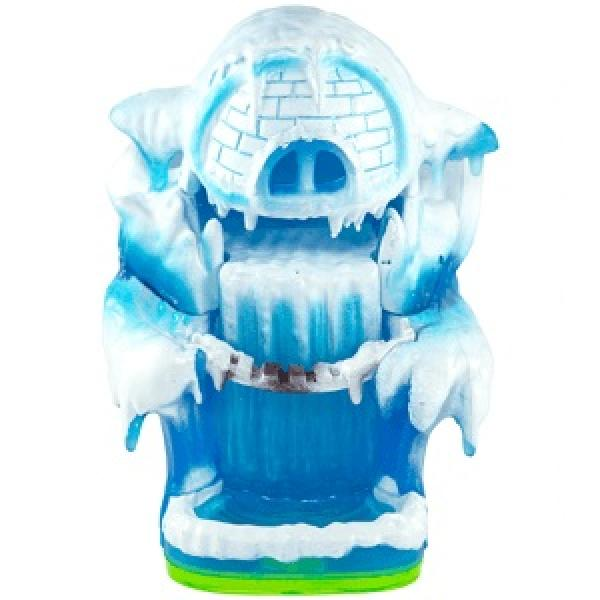 Skylanders - Spyros Adventure - Magic Item - Green base - Empire of Ice - blue igloo fortress w/ ice waterfall & bridge - USED