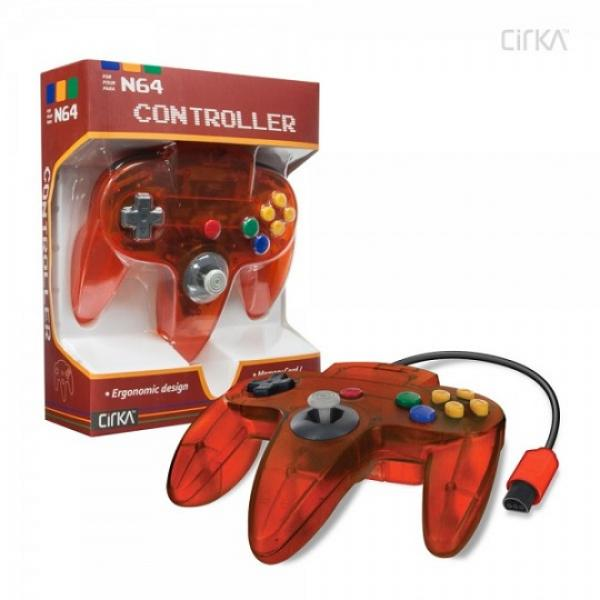 N64 Controller (3rd) NEW - Cirka - Original Style - Hyperkin - Fire - Clear ORANGE