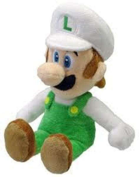 Plush - Nintendo - Super Mario - Fire Luigi - 9 in