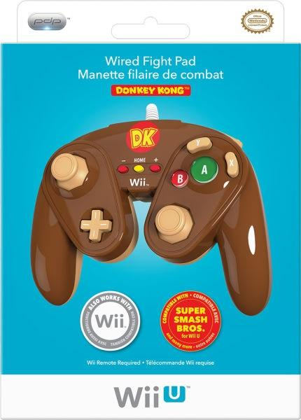 WiiU Wii Gamecube style controller (3rd) PDP - Donkey Kong DK - NEW