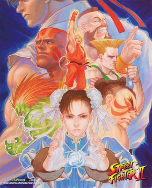 Wall Scroll - Street Fighter - Street Fighter II 2 Arcade Poster - all characters - CWS009