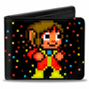 Gamer Wallet - SEGA - bifold - Alex Kidd - Pixelated standing and motorbike pose - NEW