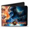 Gamer Wallet - Mortal Kombat 9 - Scorpion and SubZero battle scene - Bifold Wallet - NEW