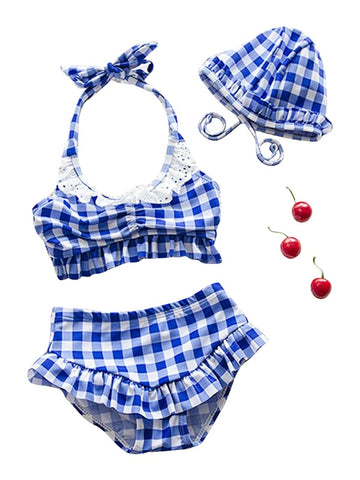 Checkered Baby Three-Piece Swimsuit - Playground Couture