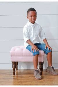 Tyson Printed Boy's Button Down - Playground Couture