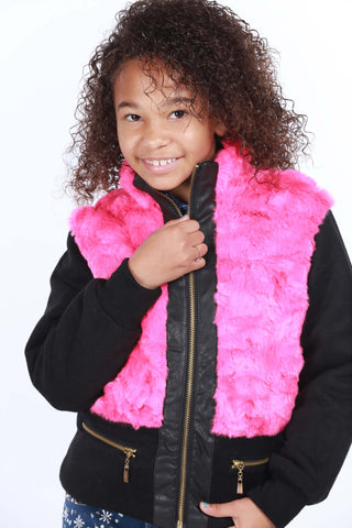 Keep Me Warm Fur Jacket - Playground Couture
