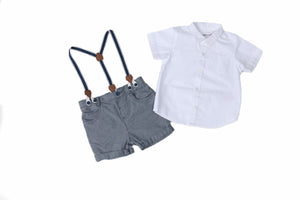 Levi Suspender Short Set - Playground Couture