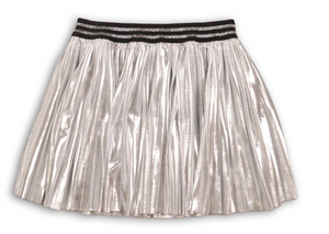 Metallic Pleated Skirt - Playground Couture