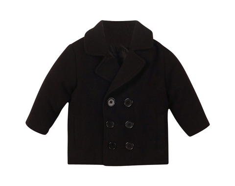 Cameron Boy's Peacoat - Playground Couture