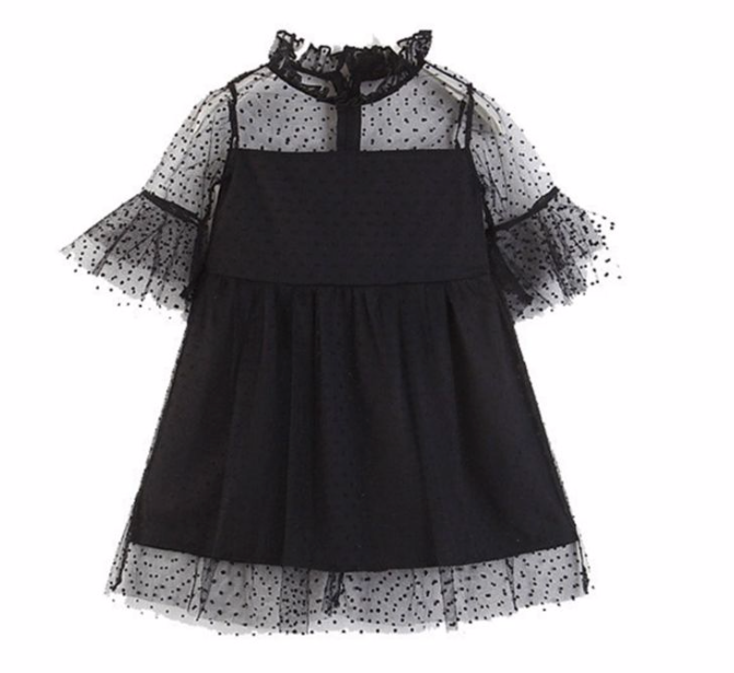 Elise Dotted Dress - Playground Couture