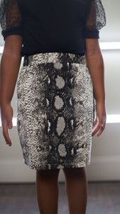 Layla Snake Skirt Set