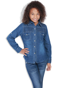 girl's denim shirt