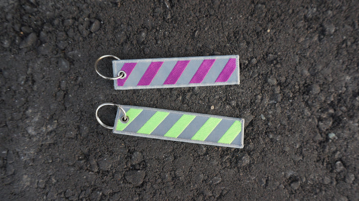 """3M Caution"" Tag - (3M/Purple/neon)"