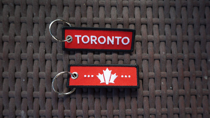 Toronto Mini Travel Tag - Red Hot