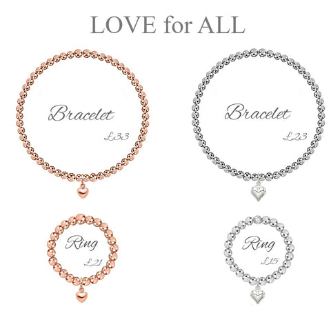Love for All bracelets and rings