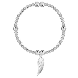 Angel By My Side 4mm Bead Stretch Bracelet - globalsoul