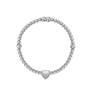 Heart Full of Love 3mm Bead Stretch Bracelet - globalsoul