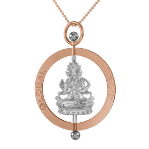 Compassion Buddha Spinning Pendant 5cm - globalsoul