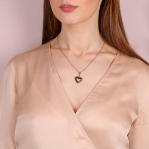 Harmony LOVE Heart Charm Necklace - globalsoul