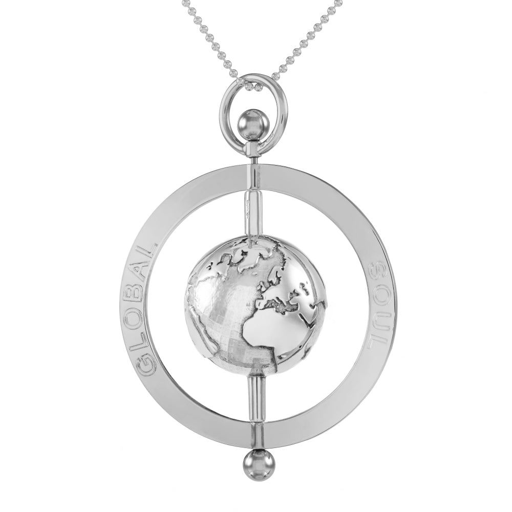 Peace spinning globe pendant 5cm globalsoul aloadofball Image collections