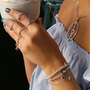 My Heart is Open to Love 4mm Bead Stretch Bracelet - globalsoul