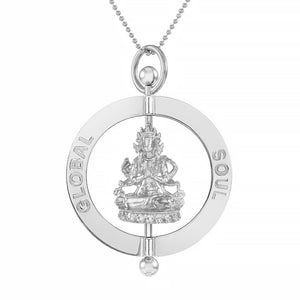 Compassion Buddha Spinning Pendant 4cm - globalsoul