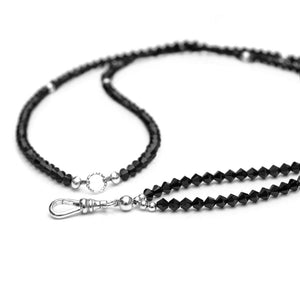 Swarovski Jet Long Necklace - globalsoul