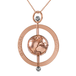 Peace Spinning Globe Pendant 5cm - globalsoul