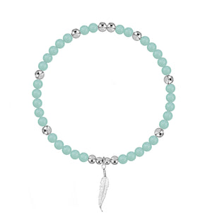 Angel Protection Amazonite Stretch Bracelet - globalsoul