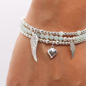 Angel By My Side Amazonite Stretch Bracelet - globalsoul