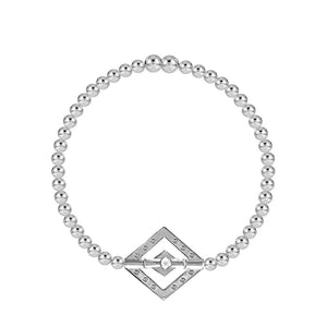 Balance Diamond 4mm Bead Stretch Bracelet - globalsoul
