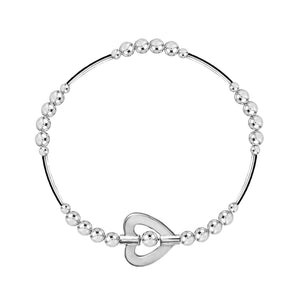 My Heart is Open to Love Noodle Bracelet - globalsoul