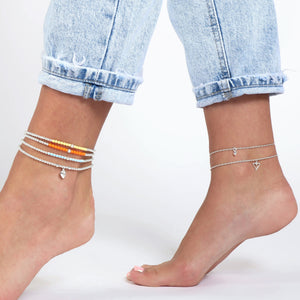 My Heart is Open to Love Chain Anklet - globalsoul