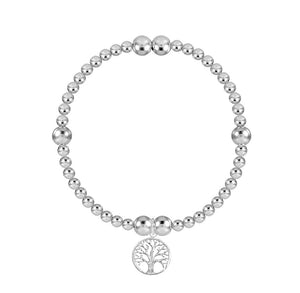 Tree of Life 3mm Bead Stretch Bracelet - globalsoul