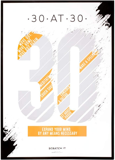 30 At 30 Birthday Scratch Off Poster