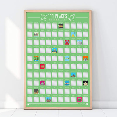 100 Places To Visit Scratch Off Poster