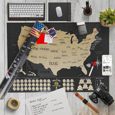 USA Travel Map Scratch Off Poster